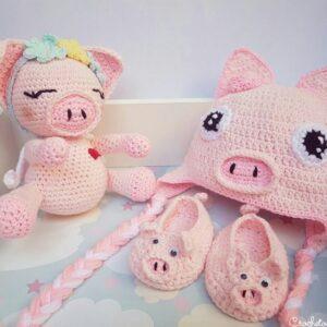 amigurumi-gorro-escarpines-crochet